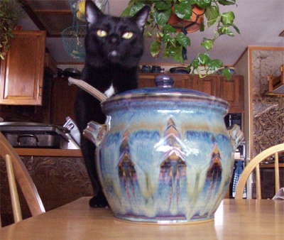 Atilla and my soup tureen