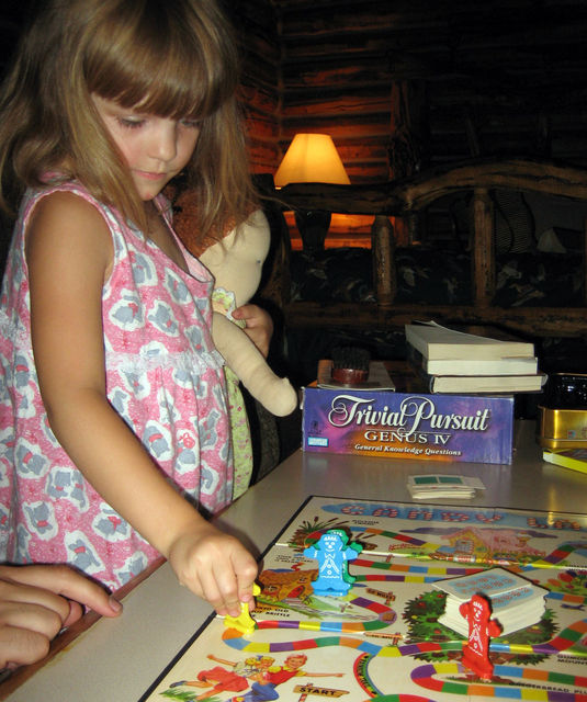 Annabel playing Candyland