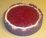 Strawberry glazed cheesecake w/ginger snap crust