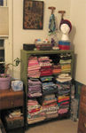 New shelves for some of my fabric stash
