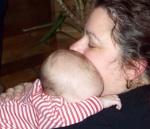 Annabel snuggled up with Grandma Joan