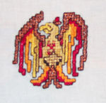 Cross Stitch Phoenix for a New Orleans quilt