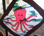 Octopus suncatcher backlit