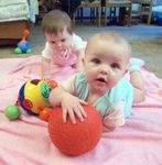 Leann & Annabel playing