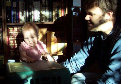 Annabel & Daddy in the sun