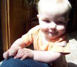 Annabel crawling on Momma (#4)