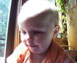 Annabel crawling on Momma (#6)