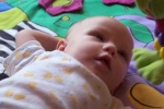 Annabel on the playmat with perfect lighting