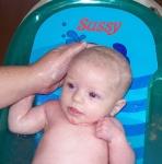 I like getting my hair washed!