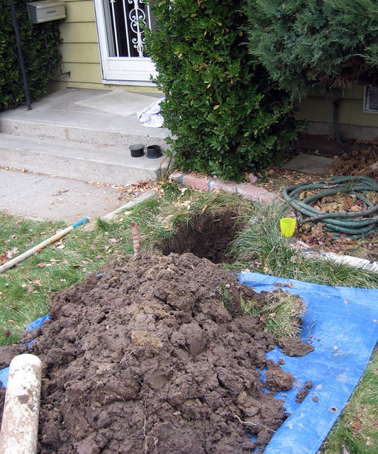sprinkler system excavation