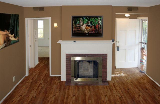 A Photoshop mock-up of how we wanted the livingroom to look