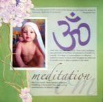 Om / Meditation (7 mos old)