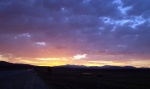 Sunset over Hwy 267 on the way to Truckee