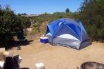 Our honeymoon campsite in Santa Cruz