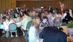 Everyone eating at the reception
