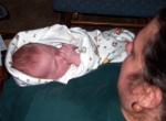 Annabel sleeping with Grandma Joan & sucking her thumb