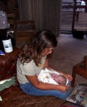 Tracy holding Annabel