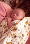 Annabel sleeping on Mommy