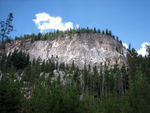 Tuff Cliff, formed by volcanic ash