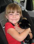 Annabel loves her new bear cub!