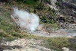 Steaming hillside
